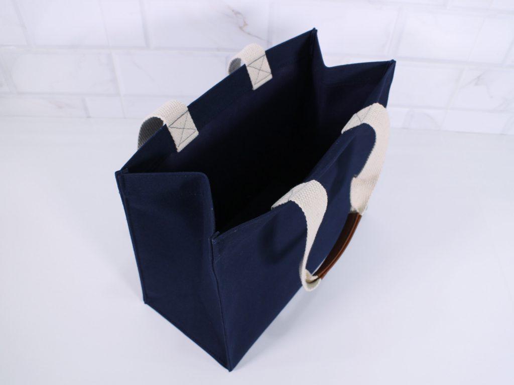 กระเป๋าผ้าแคนวาสขยายข้าง-ฐาน